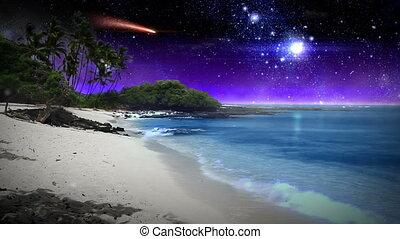 아름다운, 공상, 바닷가