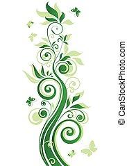 아름다운, 녹색 나무