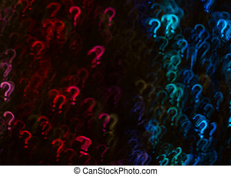 아름다운, 배경, 와, 다른, 착색되는, 물음표, 떼어내다, 배경, 물음표, 형체, 통하고 있는, 검은 배경