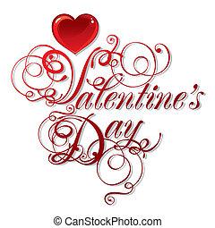 아름다운, 배경, 통하고 있는, 발렌타인 데이