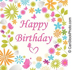 아름다운, 생일 카드