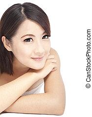 아름다운, 아시아 사람 여자