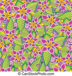 아름다운, 장식적이다, 꽃의, 꾸밈이다, seamless, 패턴