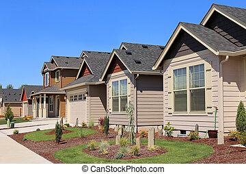 아름다운, 집, 교외에 있는, 근처, 가족