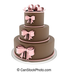 아름다운, 케이크, 결혼식