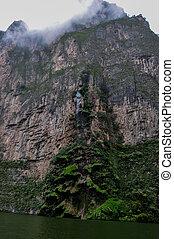 아름다운, 폭포, 에서, 협곡, 의, sumidero, 멕시코