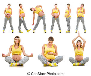 아름다운, 행복하다, 나이 적은 편의, 임신부