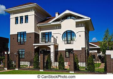 아름다운, 현대, 집