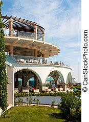 아름다운, 호텔, 바다, 그리스
