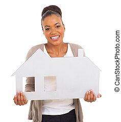 아메리카 흑인 여자, 보유, 집, 상징