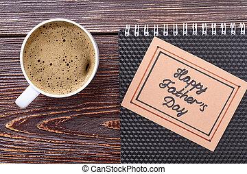 아버지날, 카드, coffee.