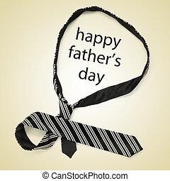 아버지, 행복하다, 일, 넥타이, 문장