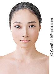 아시아 사람, 아름다움, 얼굴