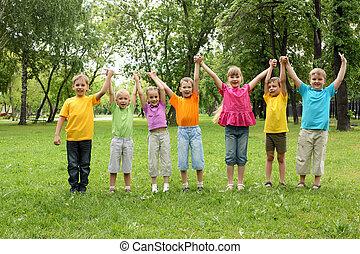 아이들의 그룹, 공원안에