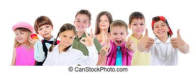 아이들의 그룹, 자세를 취함