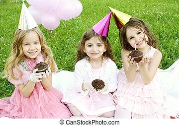 아이들, 생일 파티, 옥외