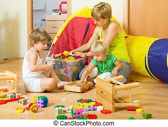 아이들, 와..., 어머니, 수집, 장난감