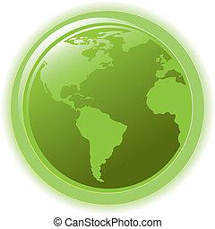 아이콘, 개념, 웹, 지구, 인터넷