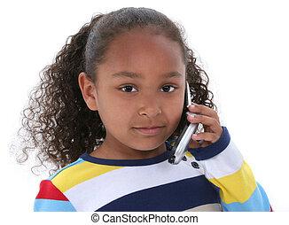 아이, 소녀, cellphone