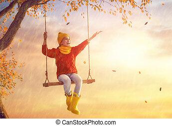 아이, 억압되어, 그만큼, 가을, 샤워