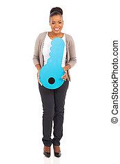 아프로형 미국 여성, 보유, 열쇠