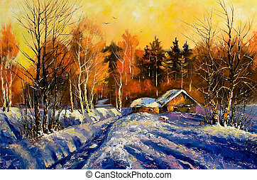 안으로의저녁, 겨울, 마을