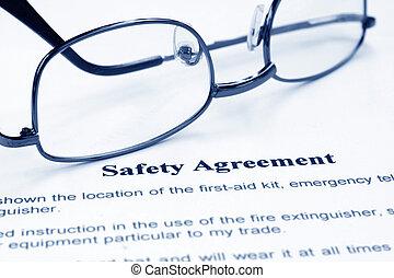 안전, 동의, 협정, 계약