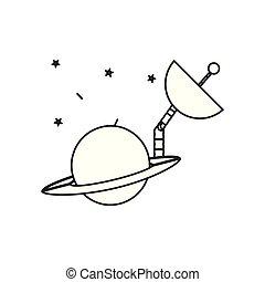 안테나, 공간, 고립된, 행성, 토성, 아이콘