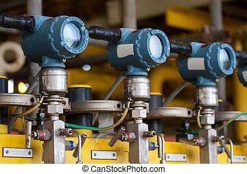 압력, 송신기, 기름, 가스