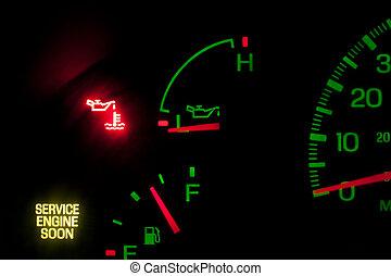 압력, 엔진, 서비스, 기름