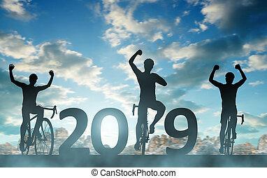 앞으로, 에, 그만큼, 새해, 2019.