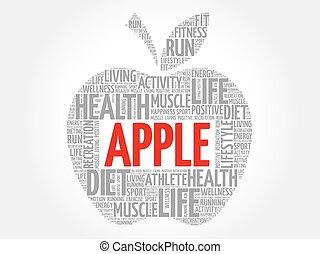 애플, 낱말, 구름
