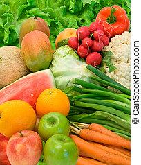 야채, 과일, 배열