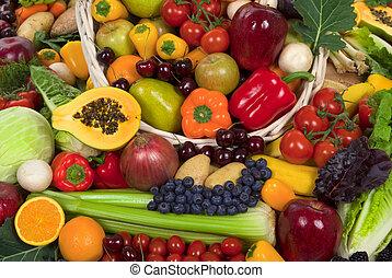 야채, 과일