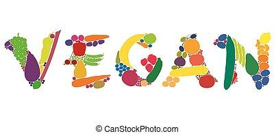 야채, 과일, 철저한 채식주의자