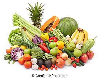 야채, 와..., 과일