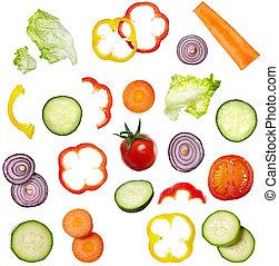 야채, 음식, 샐러드, 규정식