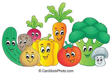 야채, 주제, 2, 심상