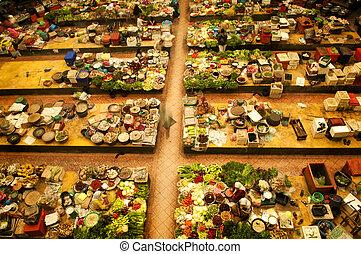 야채, market.