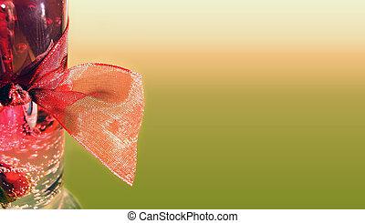 양초, 고립된, 빨강