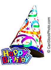 양초, 생일 모자, 행복하다