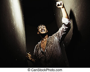 어렵다, 다 써버린, 생존, 후에, 승리다, 남자