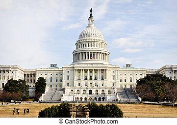 언덕, 워싱톤 미 국회의사당, dc