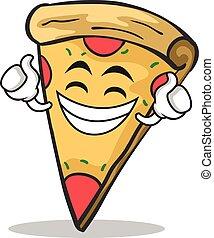 얼굴, 거만한, 성격, 만화, 피자
