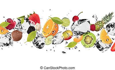 얼음, 과일
