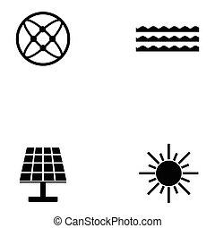 에너지, 아이콘, 세트