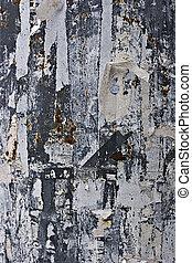 에 의하여 찢는 종이, 통하고 있는, a, 금속 벽
