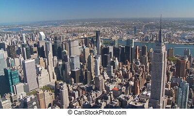 엠파이어 스테이트 빌딩, 공중 전망, 부분, ii