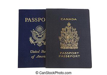 여권, 미국 영어, 쪽, canadian