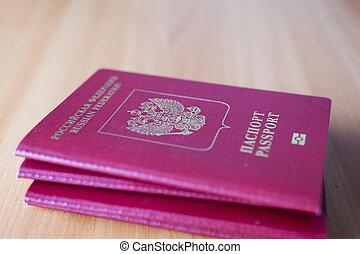 여권, 테이블에